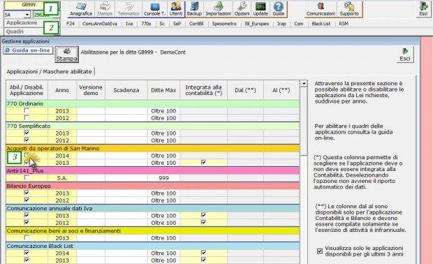 Abilitazione applicazione RSM