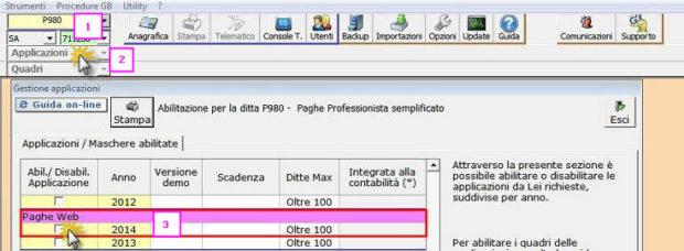 1 - Abilitazione Paghe GB Web