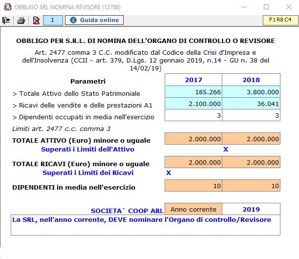 Bilancio 2019: raddoppio limiti obbligo revisione S.r.l. - 1