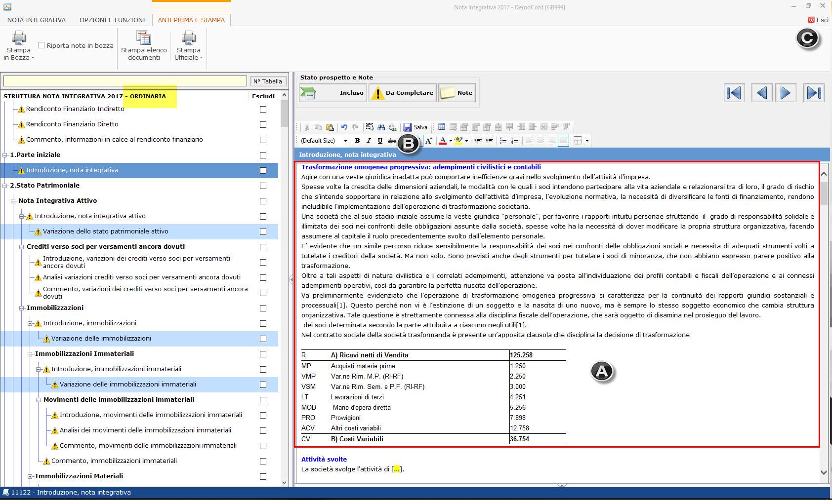 Caso Pratico: Recuperare Nota Integrativa da copie interne - 1