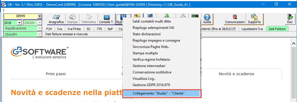 Collegamento Studio/Cliente: rilascio applicazione - 1