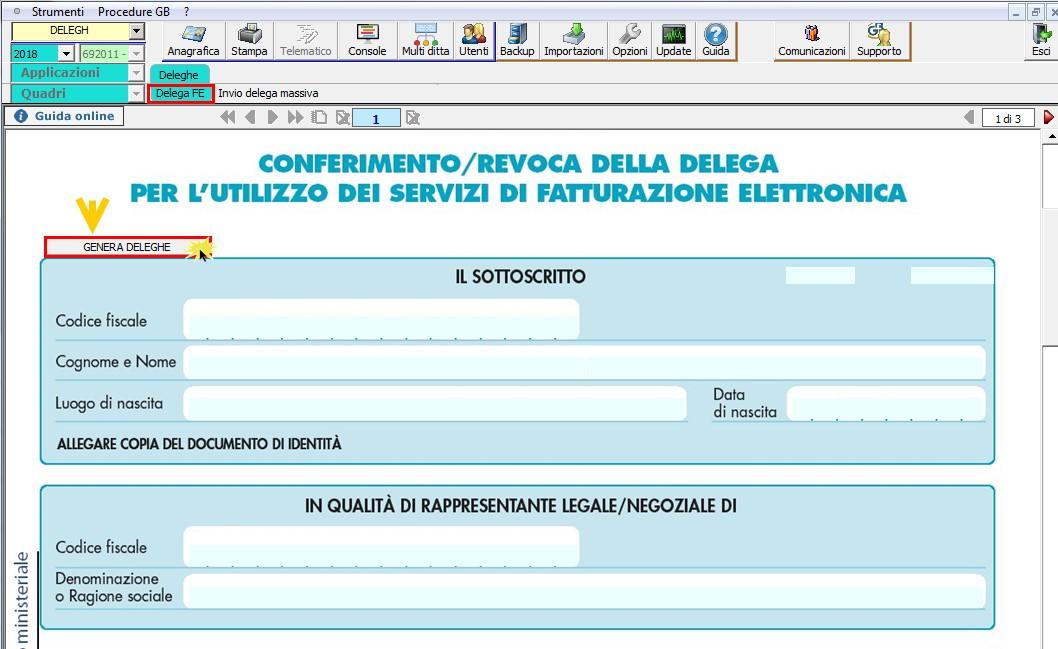Conferimento Delega Fatturazione Elettronica: nuova gestione - 1