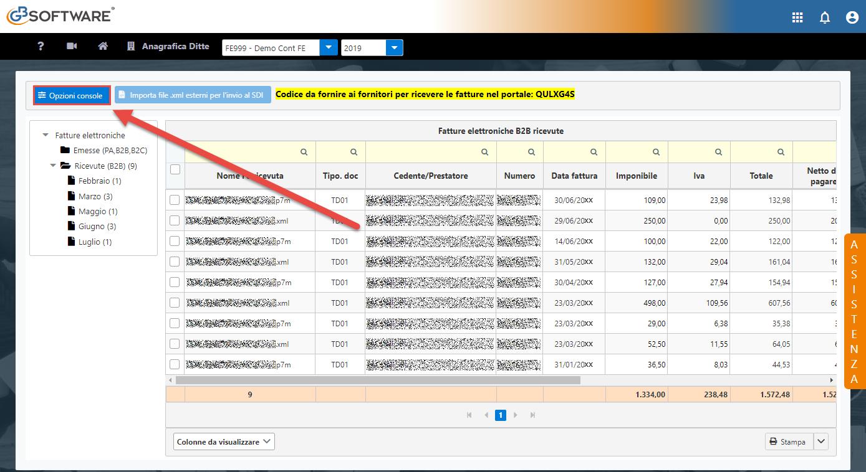 Console Web 2019: scarico automatico ricevute e operazioni multiple - 1