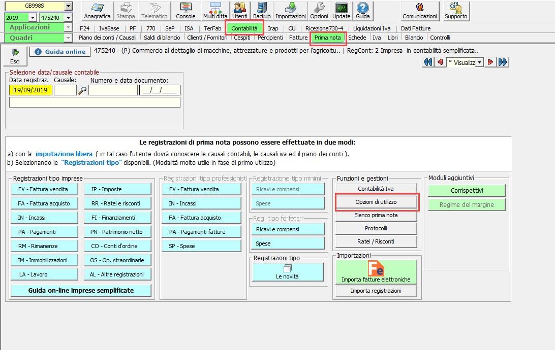 Contabilità: abilitazione di un nuovo registro IVA - 1