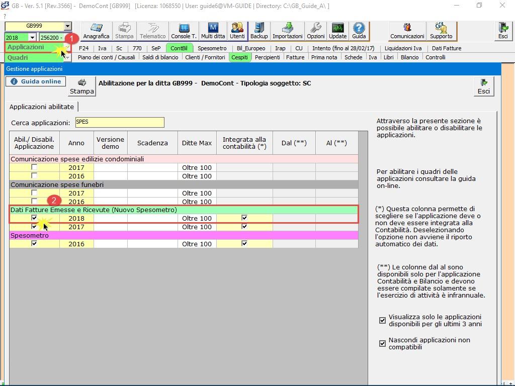 Dati fatture emesse e ricevute 2018 (nuovo Spesometro): rilascio applicazione - 1