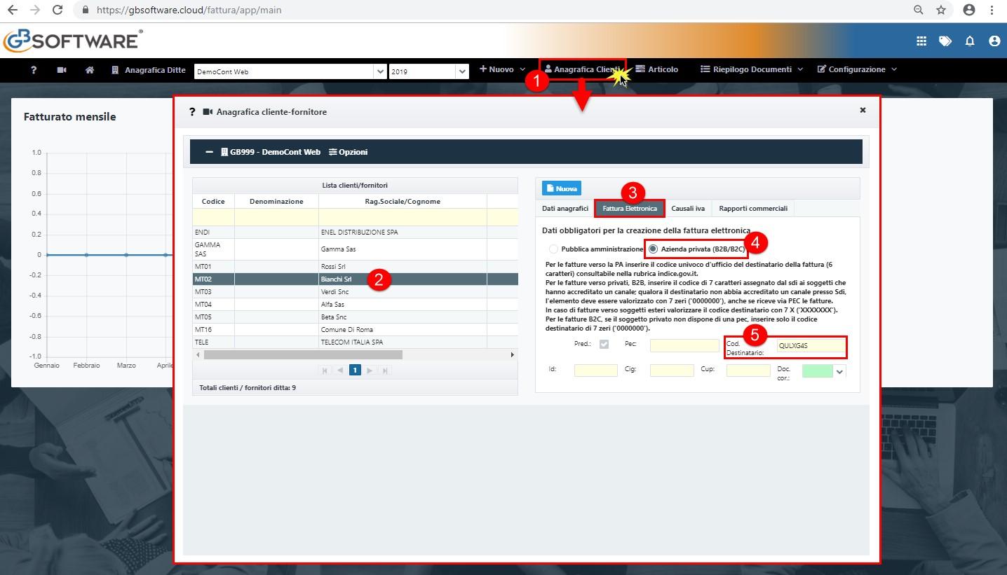 Fatturazione Elettronica: impostazione anagrafica del cliente - 1