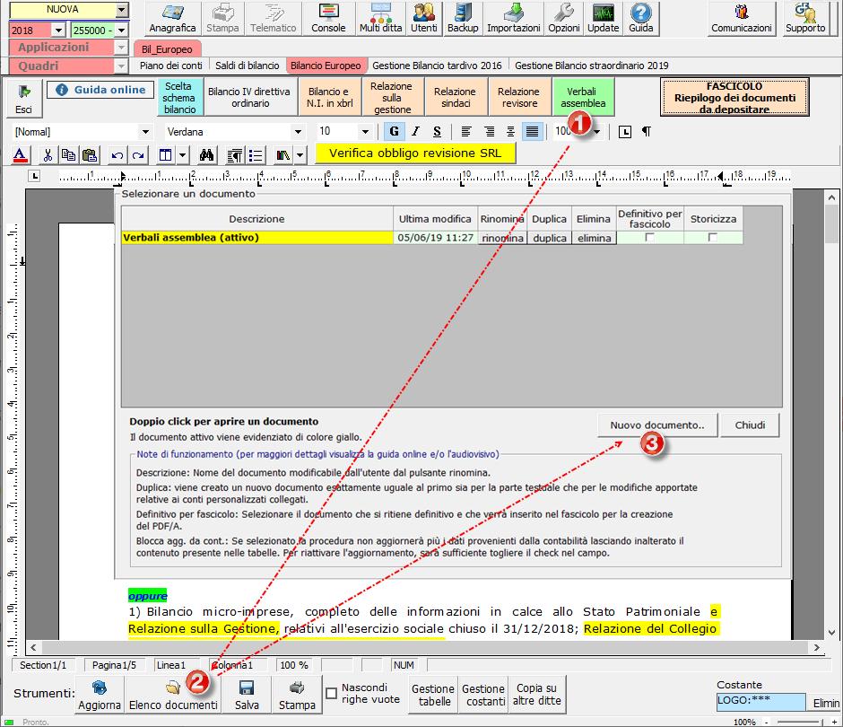 Caso pratico: Importare Verbale assemblea redatto con Word / Open Office - 1