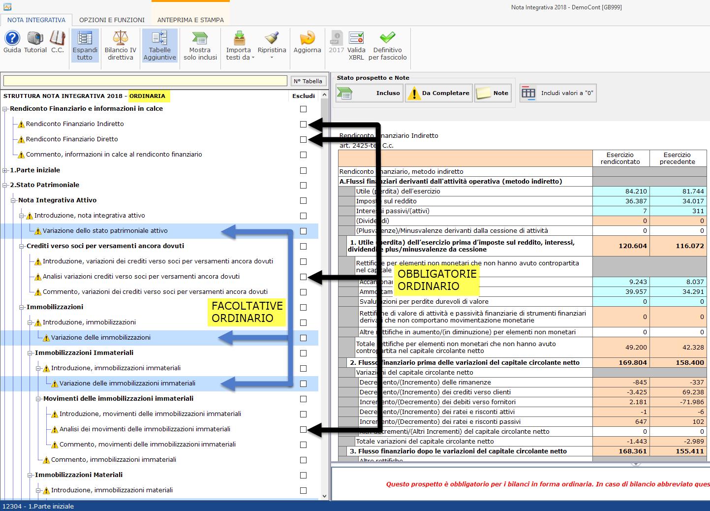 Nota Integrativa: tabella XBRL obbligatoria in assenza del fenomeno di bilancio? - 1