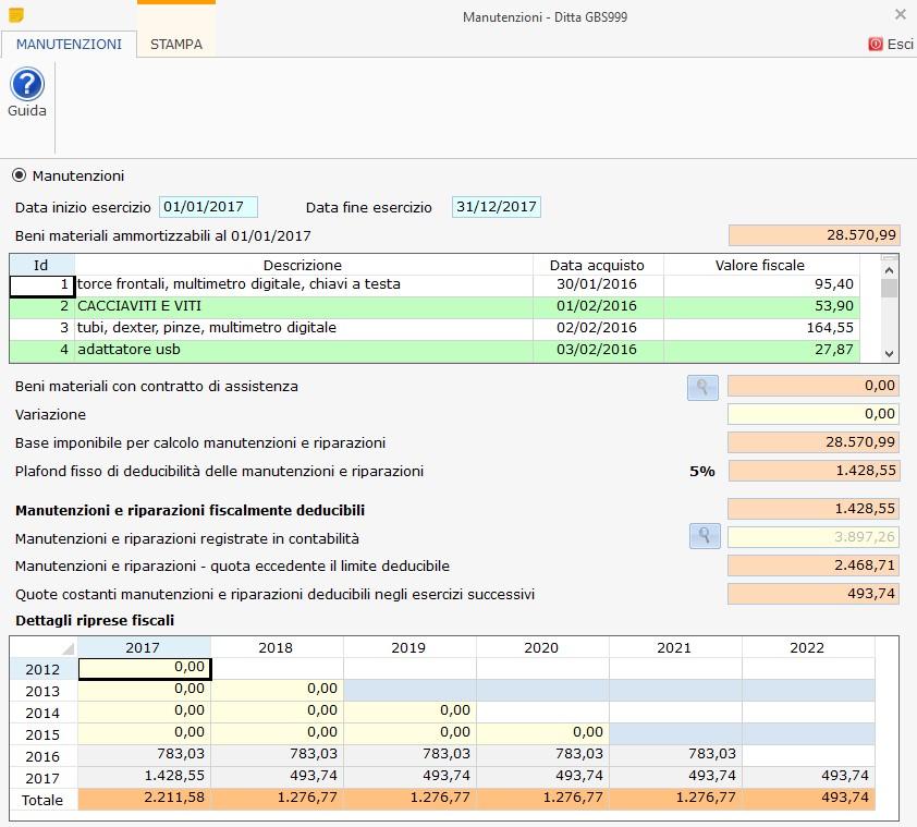 Deducibilità spese di Manutenzione e Riparazione 2017: aggiornamento versione - 1