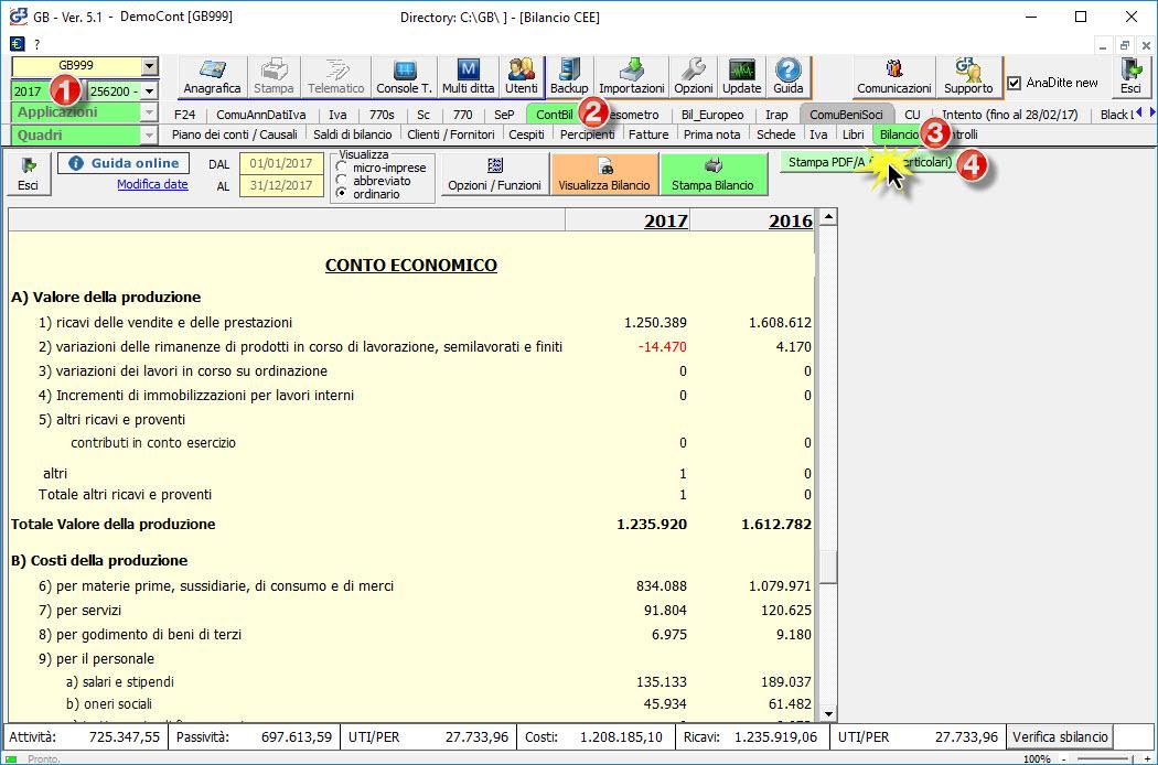 Accesso al bilancio