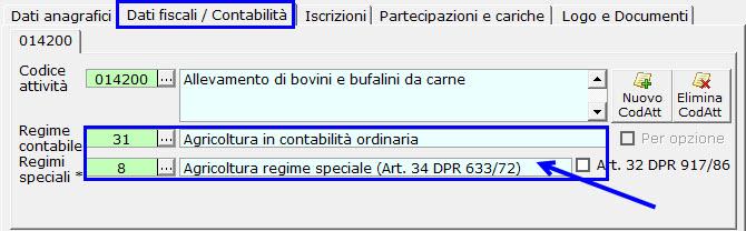 Agricoltura regime speciale (Art.34 DPR 633/72)