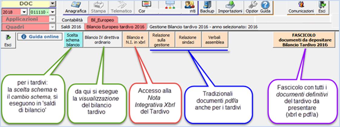 Bilancio Tardivo 2016 con tassonomia 2018: rilascio applicazione - 10