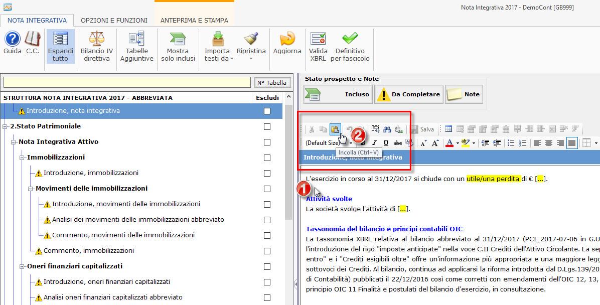 Caso Pratico: Recuperare Nota Integrativa da copie interne - 10