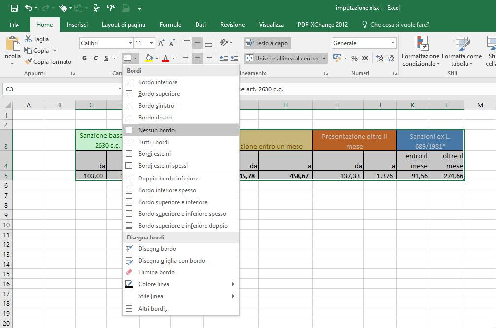 Copia tabella aggiuntiva da Excel