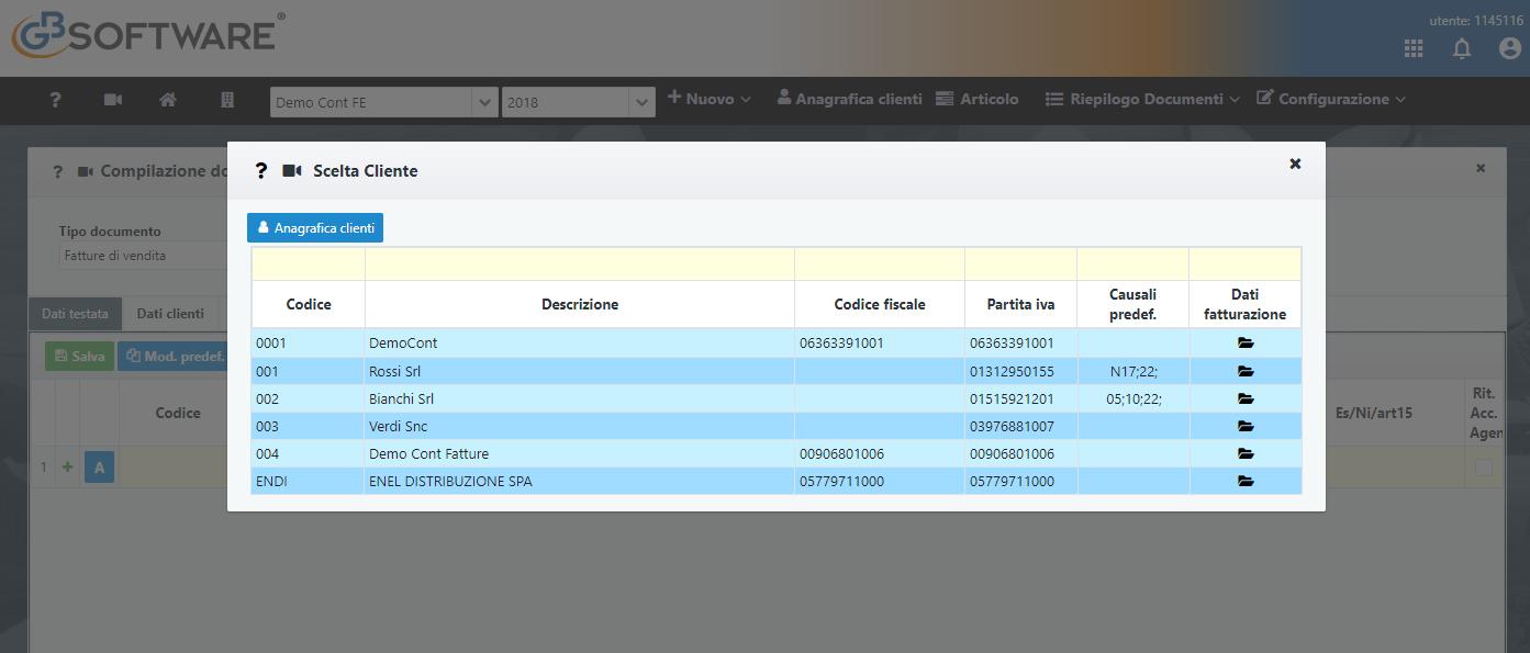 Fatturazione Web: rilascio e sincronizzazione anagrafiche clienti - 10
