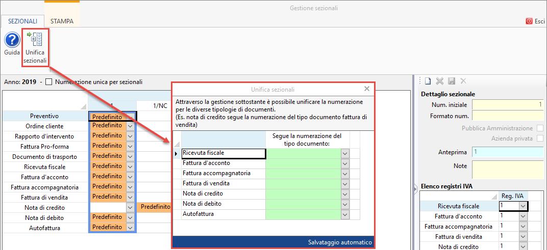 Fatturazione Elettronica: sezionali dei documenti - 10
