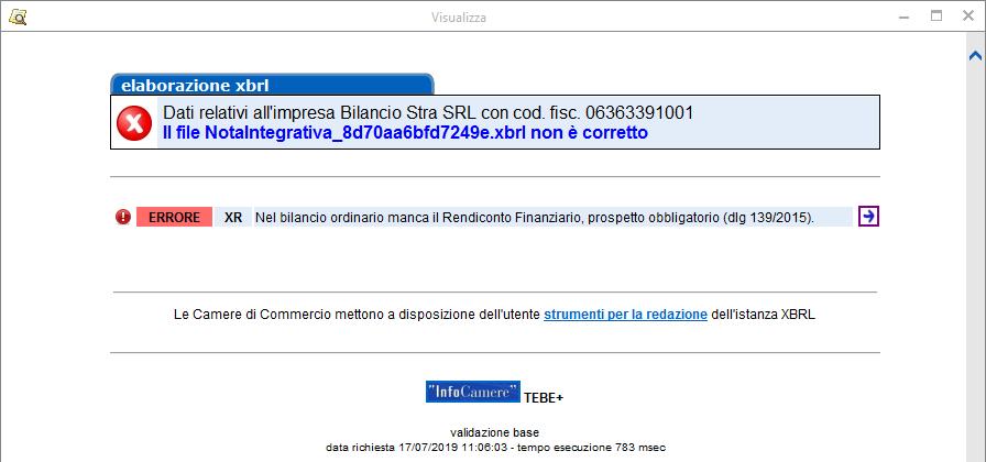 Bilancio XBRL: errori di validazione più frequenti - 11