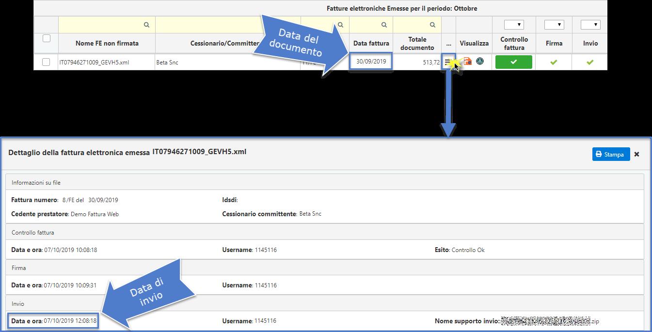Fatture: data documento e termini d'invio - 11