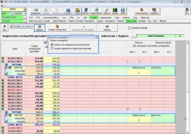 Registrazione giornaliera degli incassi software for Registrazione preliminare di vendita