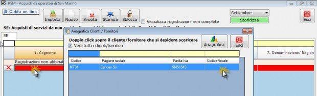 Anagrafica clienti e fornitori inserimento da input