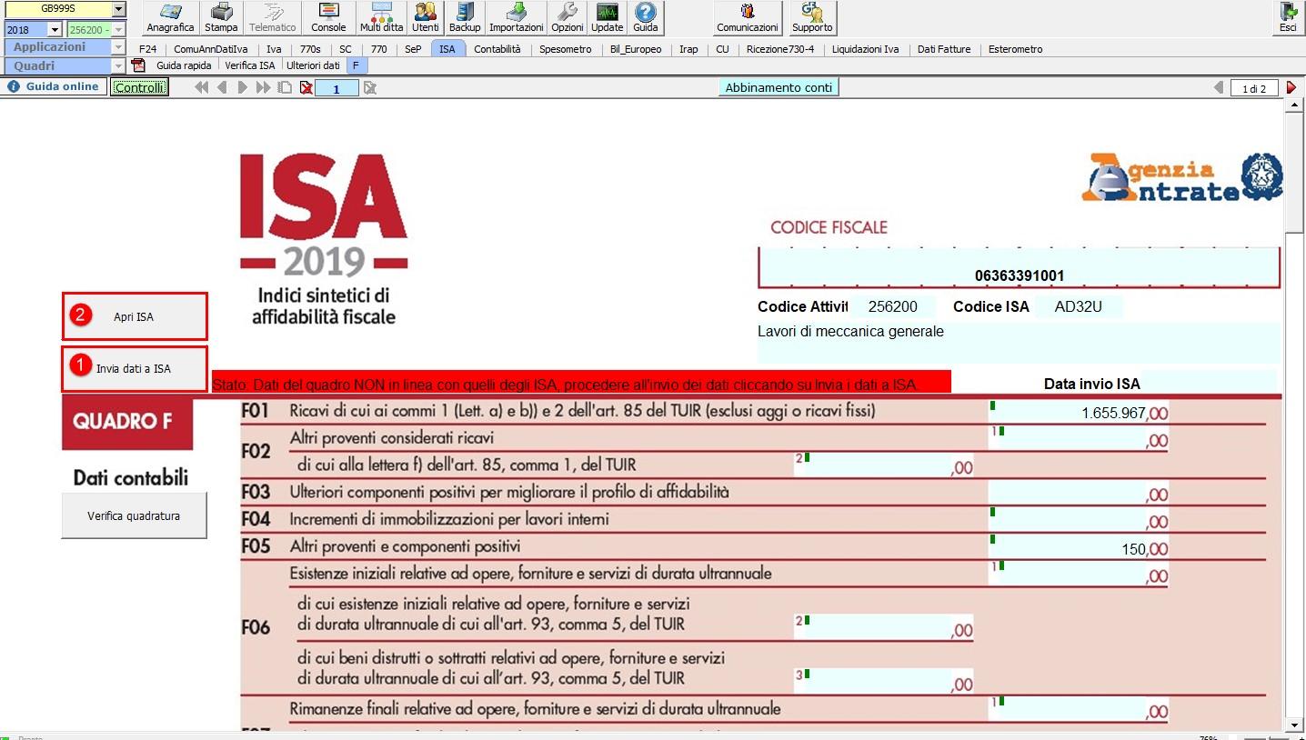 ISA 2019: modalità operative - 12