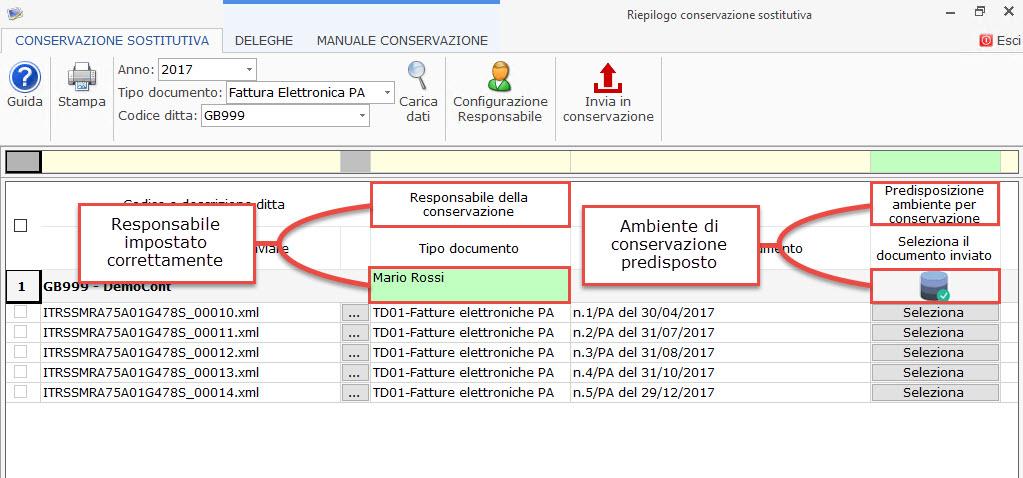 Conservazione file 2017 Dati Fatture, Liquidazioni Iva e Fatture elettroniche PA 2017: rilascio applicazione - 11