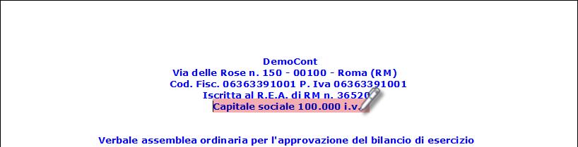 Caso Pratico: Capitale Sociale corretto nel Bilancio Europeo - 14