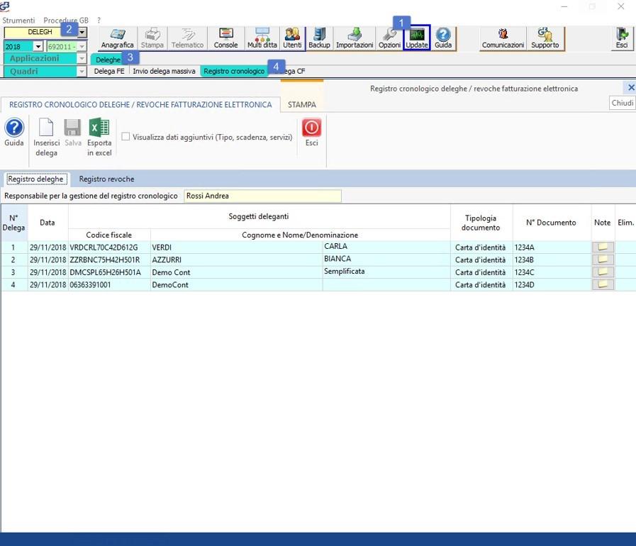 Software Registro cronologico deleghe fatturazione elettronica - 15