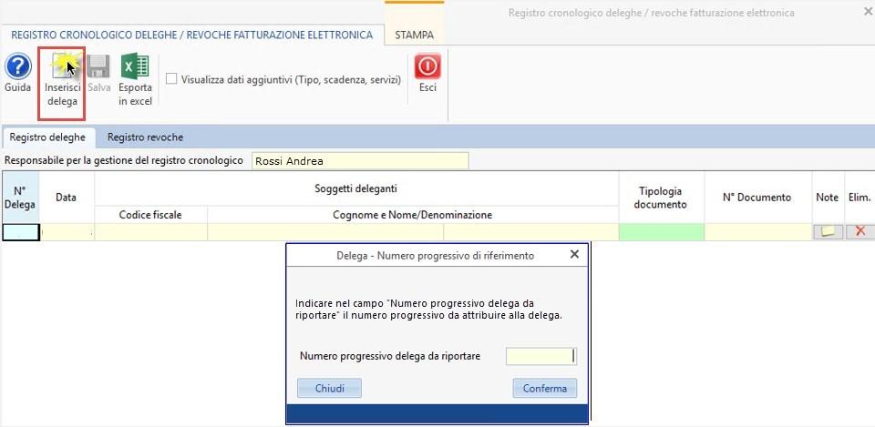 Software Registro cronologico deleghe fatturazione elettronica - 16