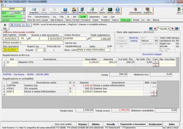 Contabilità Ordinaria e Semplificata Registrazioni Prima Nota