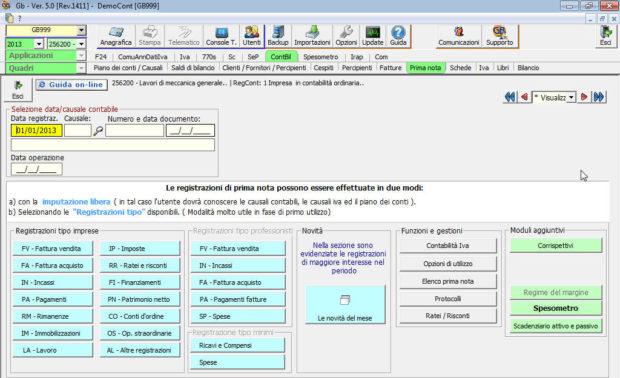 Prima nota nel software Contabilità per commercialisti e imprese