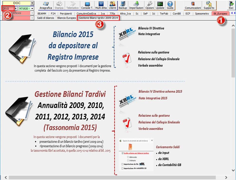 Bilanci Tardivi 2009-2014: disponibile applicazione - 2