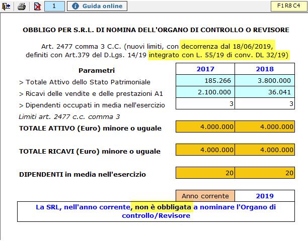 Bilancio 2019: raddoppio limiti obbligo revisione S.r.l. - 2