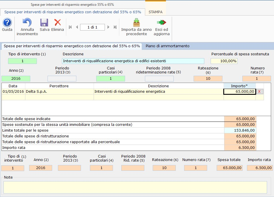 Calcolo detrazione e compilazione modello