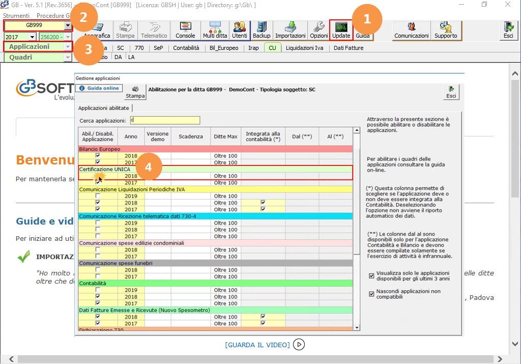 Certificazione Unica 2019: rilascio applicazione - 2