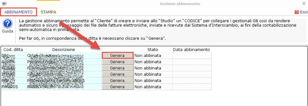Collegamento Studio/Cliente: rilascio applicazione - 2