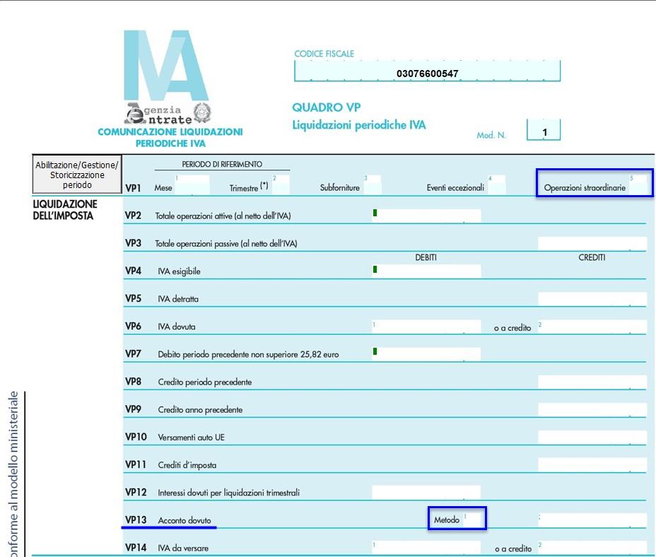 Comunicazione Liquidazioni Periodiche Iva 2018: rilascio applicazione - 2