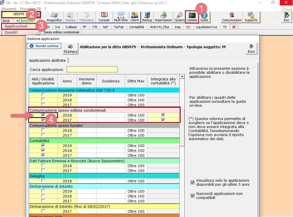 Comunicazione Spese edilizie condominiali 2019: rilascio applicazione - 2