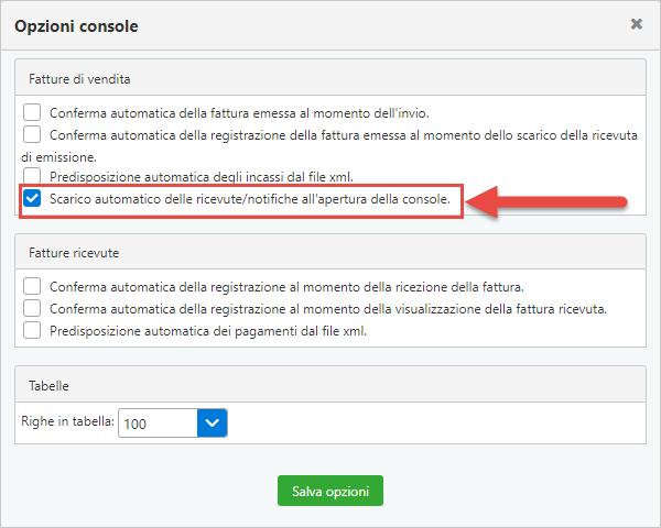 Console Web 2019: scarico automatico ricevute e operazioni multiple - 2