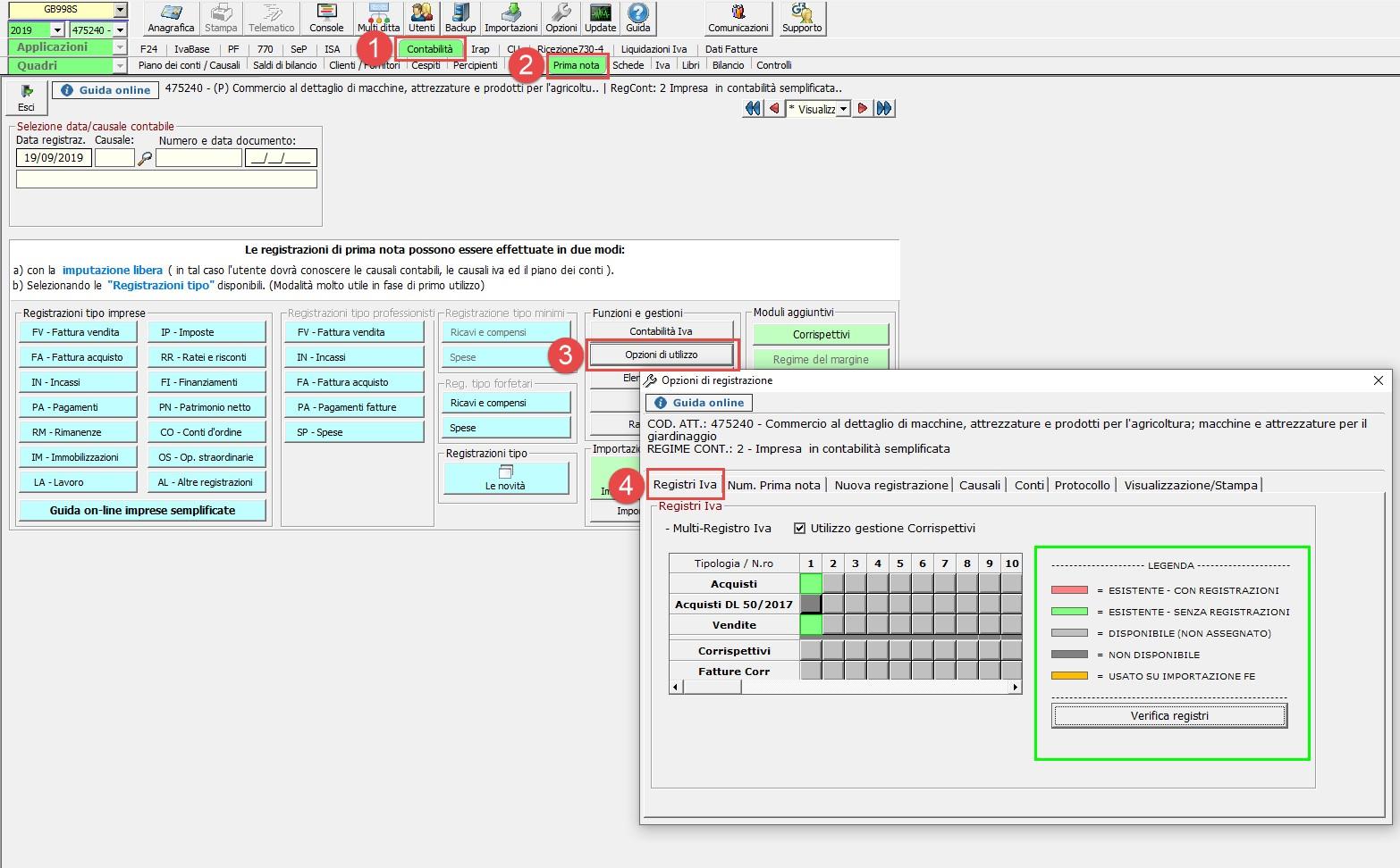 Contabilità: abilitazione di un nuovo registro IVA - 2
