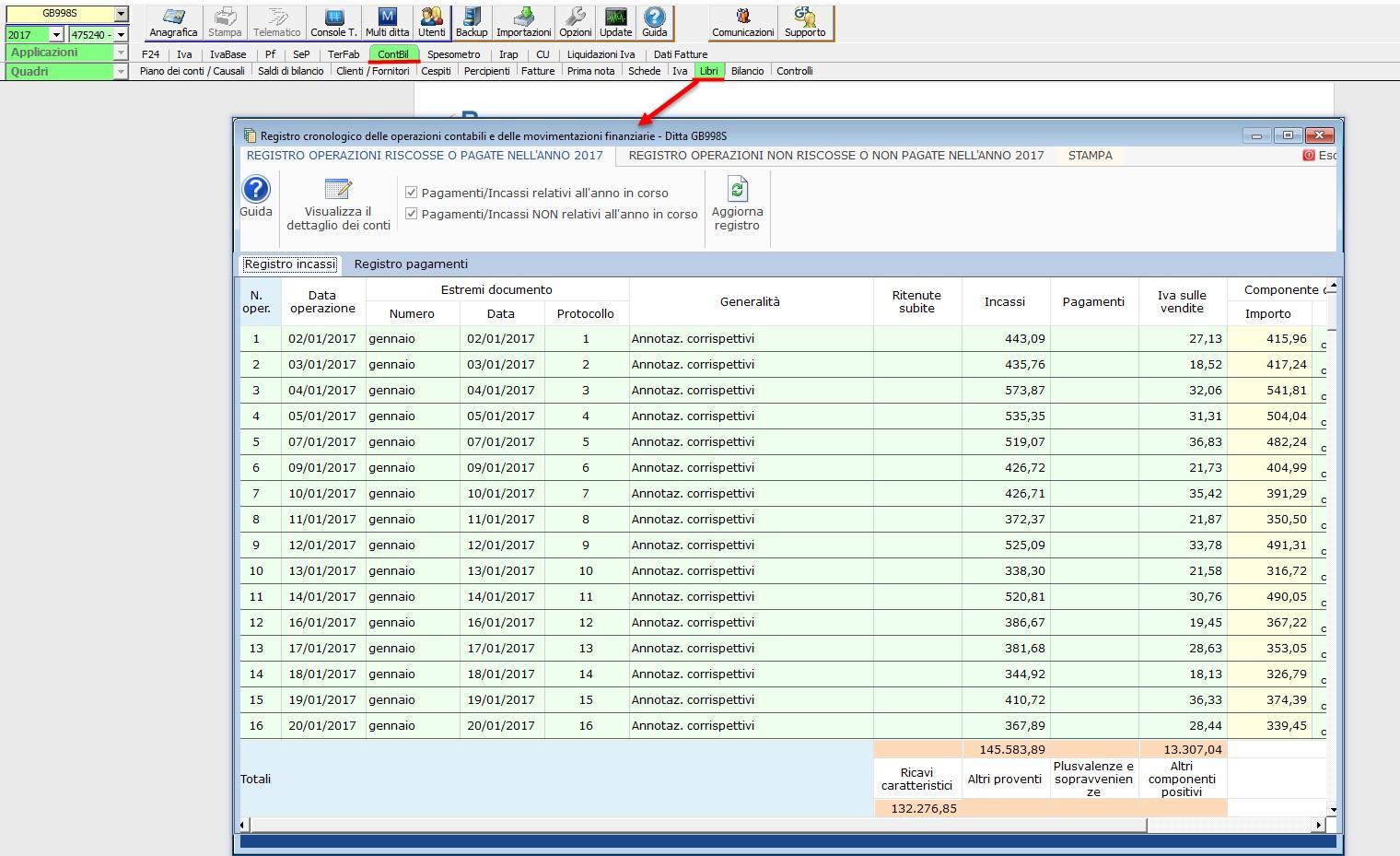 Contabilità Semplificata: Registro incassi/pagamenti - 2