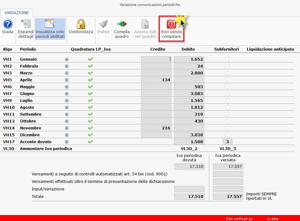 Dichiarazione IVA 2019: casi di compilazione del quadro VH - 2