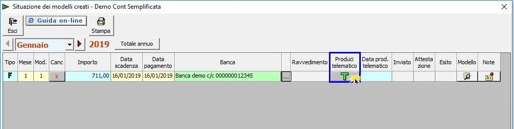 F24 2019: creazione, controllo e invio file telematico - 2