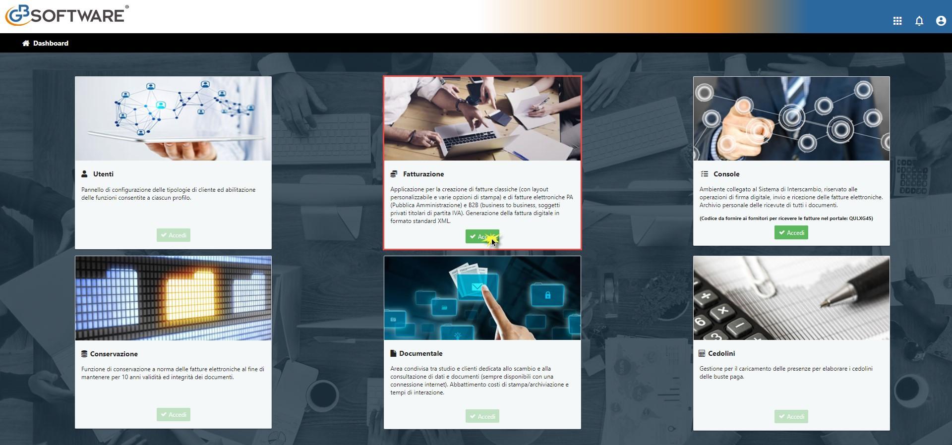 Fatturazione Web: rilascio applicazione - 2