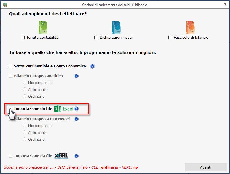 Import Saldi di Bilancio da Excel: nuove funzioni - 2