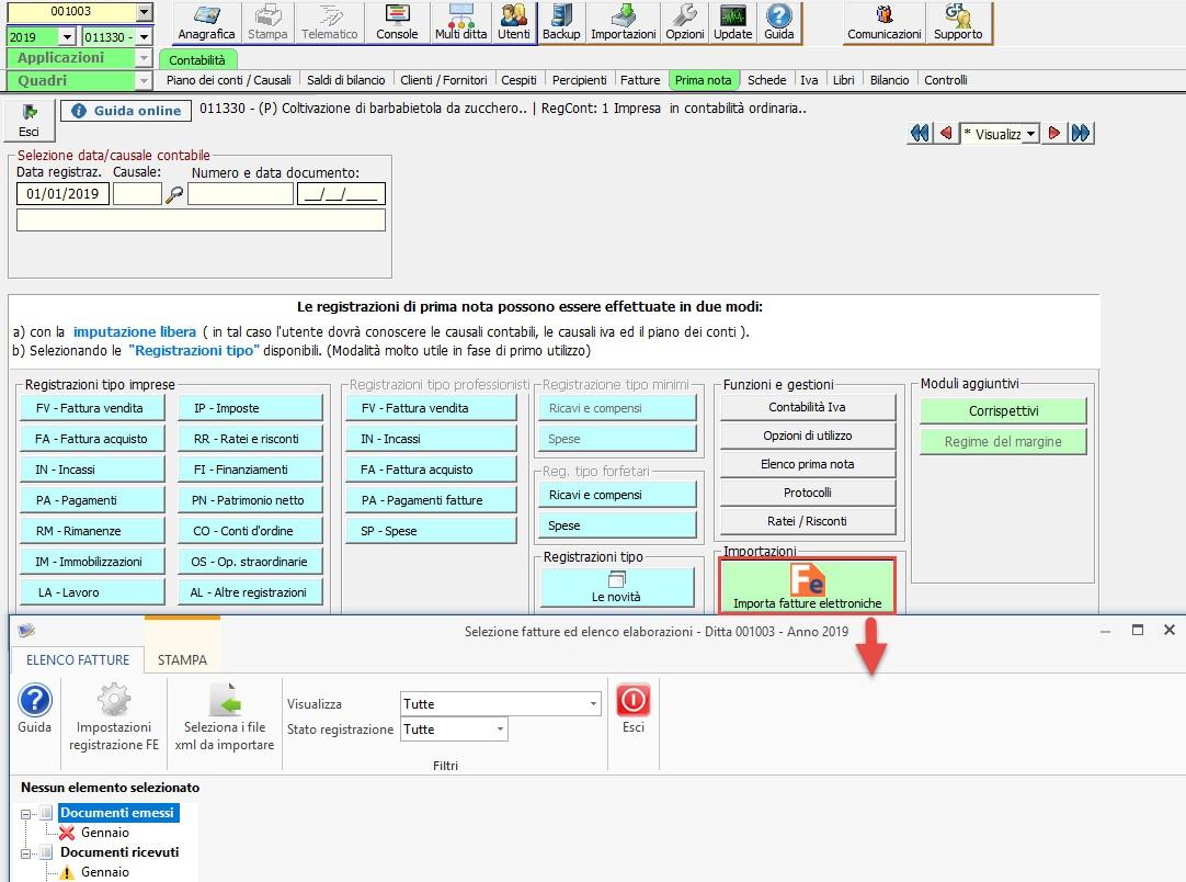 Importazione Fatture Elettroniche XML in Prima Nota: rilascio applicazione - 2