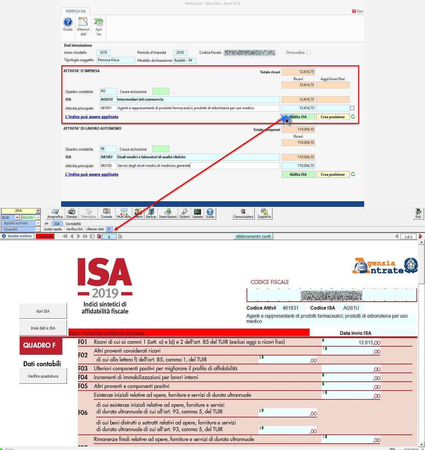 ISA 2019: gestione di due Indici di affidabilità fiscale - 2
