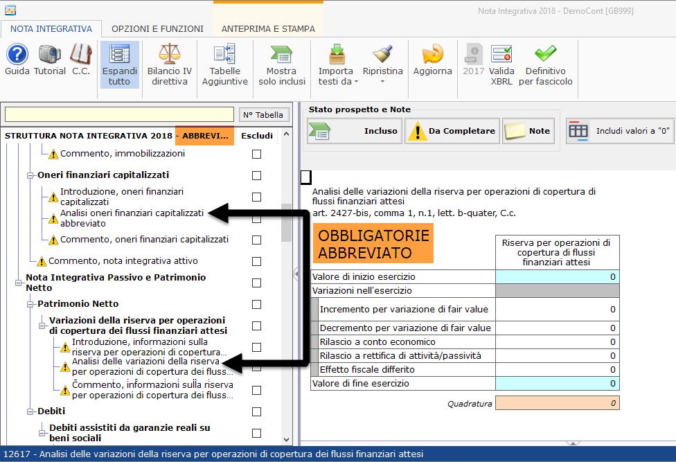 Nota Integrativa: tabella XBRL obbligatoria in assenza del fenomeno di bilancio? - 2
