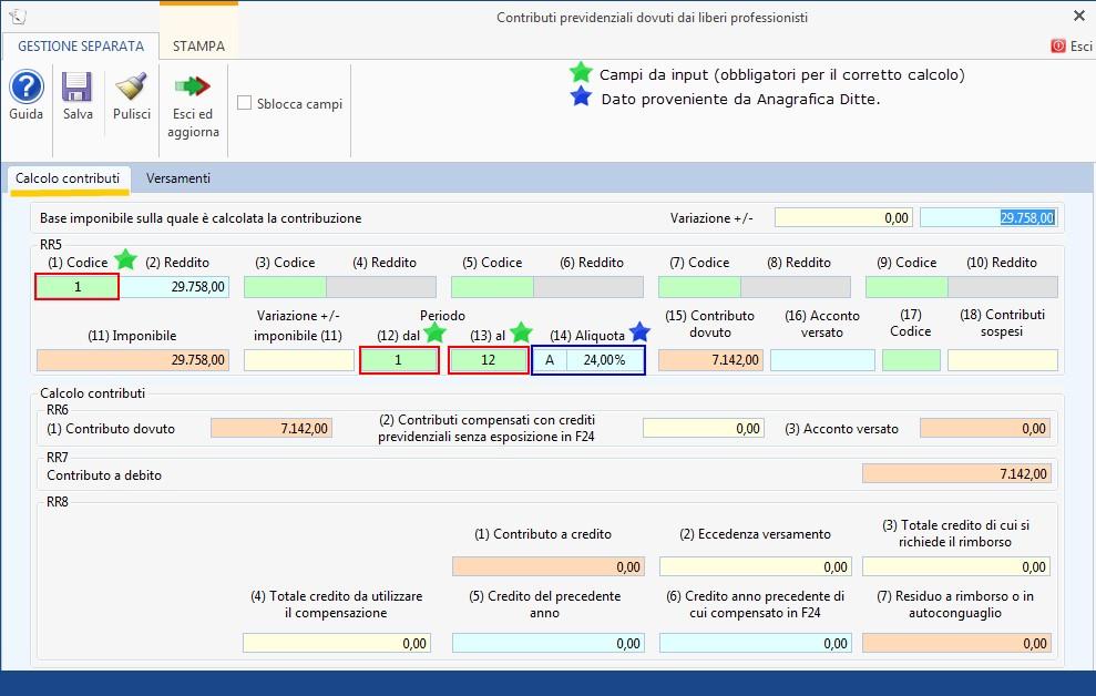 Redditi PF 2019: Gestione separata INPS - 2