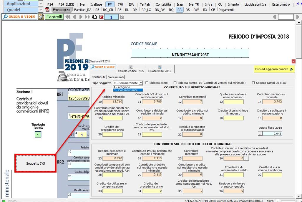 Redditi PF 2019: contributi IVS nel quadro RR - 2